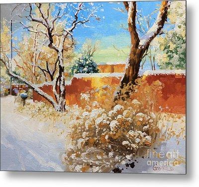 Beauty Of Winter Santa Fe Metal Print by Gary Kim