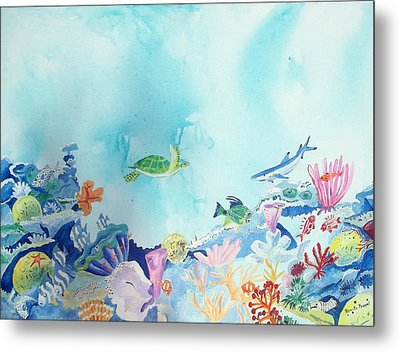 Beauty Under The Ocean Metal Print by Renate Pampel