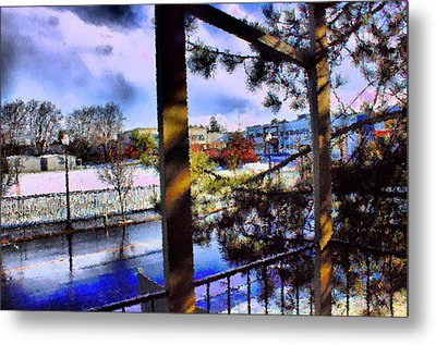 Metal Print featuring the mixed media Beaverton  H.s. Winter 2011 by Terence Morrissey