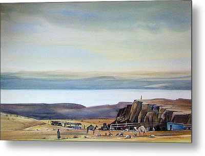 Bedouin Camp Above The Dead Sea Metal Print by Matthew Chatterley