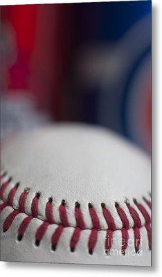 Beer And Baseball Metal Print by Alan Look