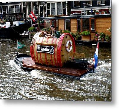 Beer Boat Metal Print