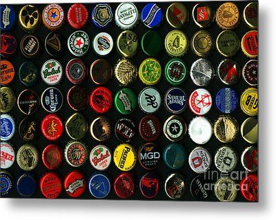 Beer Bottle Caps . 8 To 12 Proportion Metal Print by Wingsdomain Art and Photography