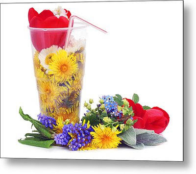Metal Print featuring the photograph Beer From May Dandelions by Aleksandr Volkov