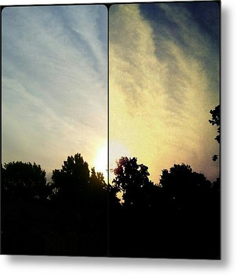 #before & #after #sunrise #sky #clouds Metal Print by Kel Hill