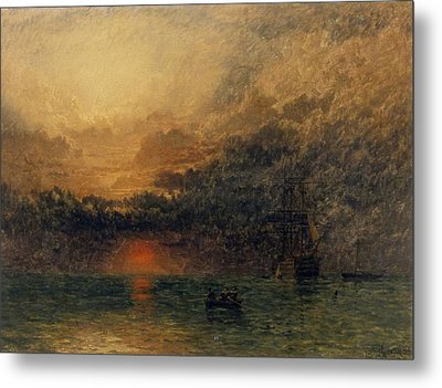 Before The Storm Metal Print by Henry Dawson
