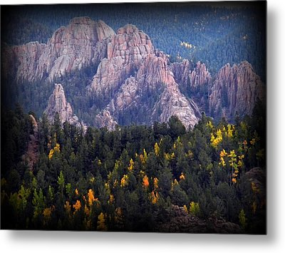 Beginning Of Mountain Fall Metal Print by Michelle Frizzell-Thompson