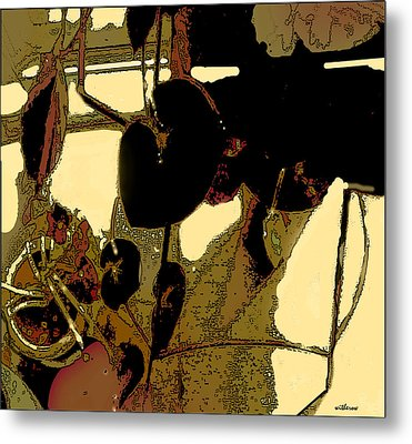 Begonias And Shadows Metal Print by Dale  Witherow