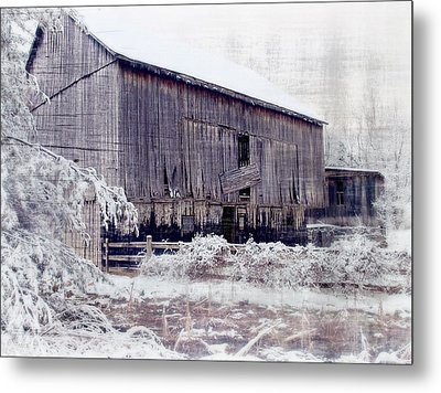 Behind The Barn Metal Print by Kathy Jennings
