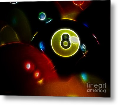 Behind The Eight Ball - Electric Art Metal Print by Wingsdomain Art and Photography