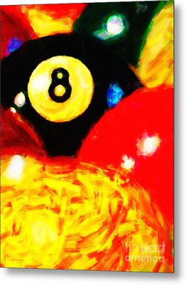 Behind The Eight Ball - Vertical Cut Metal Print by Wingsdomain Art and Photography