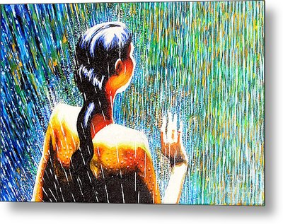 Behind The Rain Metal Print by Jose Miguel Barrionuevo