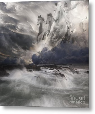 Behold A White Horse II Metal Print by Keith Kapple