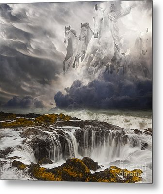Behold A White Horse Metal Print