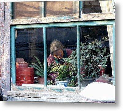 Beijing Kitchen Window Metal Print