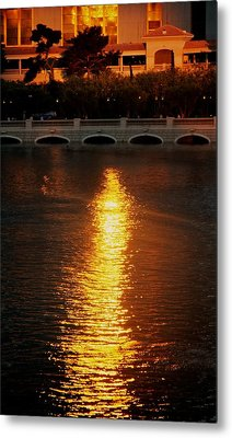 Metal Print featuring the photograph Bellagio Sunset by Joe Urbz