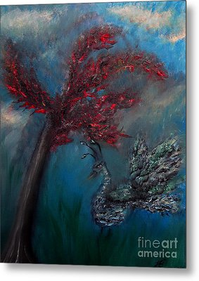 Metal Print featuring the painting Belle Paon by Ayasha Loya