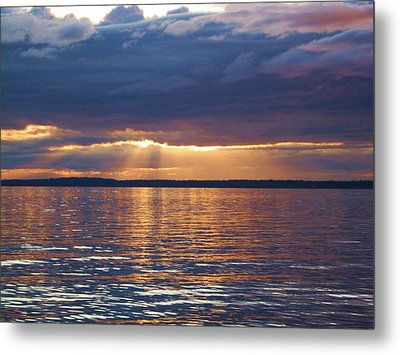 Metal Print featuring the photograph Bellingham Bay by Karen Molenaar Terrell