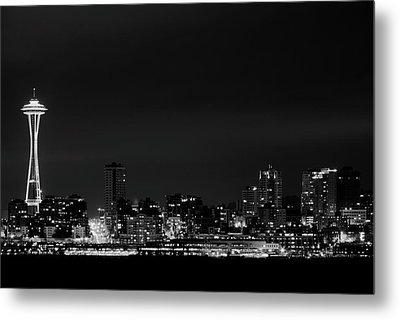 Belltown & Space Needle Metal Print by Andrew A Smith