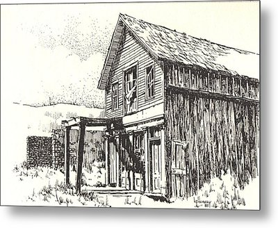 Belmont Ghost Town Nevada Metal Print by Kevin Heaney