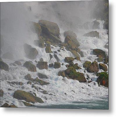 Below The Waterfall Metal Print by Naomi Berhane