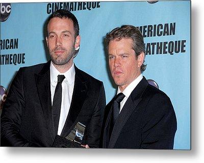 Ben Affleck, Matt Damon In Attendance Metal Print by Everett