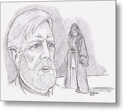 Ben Obi Wan Kenobi Metal Print by Chris  DelVecchio