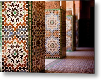 Ben Youssef Medersa Metal Print by Kelly Cheng Travel Photography