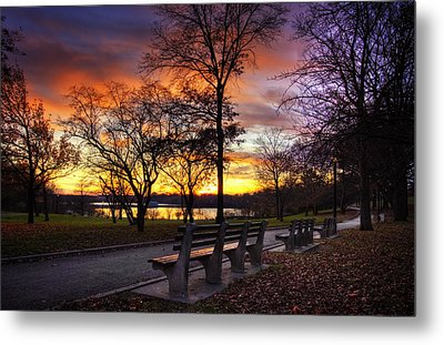 Bench With A View Metal Print by Yelena Rozov