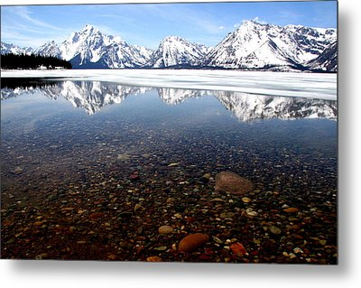 Beneath The Reflection Metal Print by Darlene Chissom