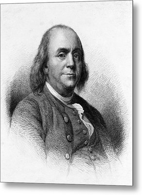 Metal Print featuring the photograph Benjamin Franklin by International  Images
