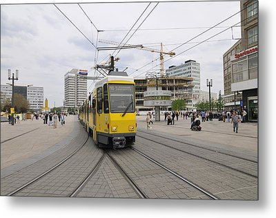 Berlin Alexanderplatz Square Metal Print