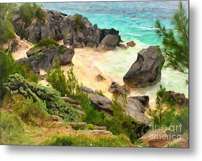 Metal Print featuring the photograph Bermuda Hidden Beach by Verena Matthew