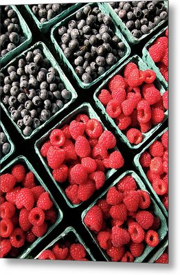 Berry Baskets Metal Print by Denise Taylor