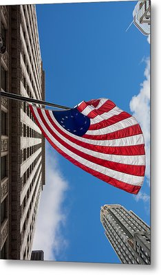 Betsy Ross Flag In Chicago Metal Print by Semmick Photo