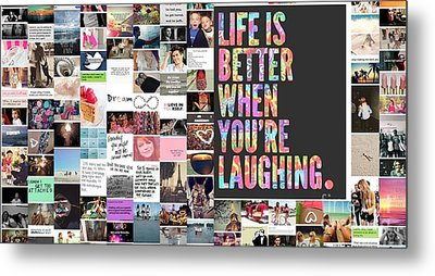 Better To Laugh Metal Print by Holley Jacobs