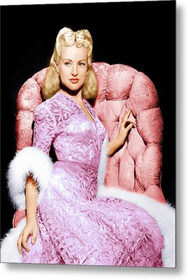 Betty Grable, Ca. 1940s Metal Print by Everett