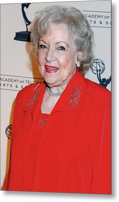 Betty White At Arrivals For The Academy Metal Print by Everett