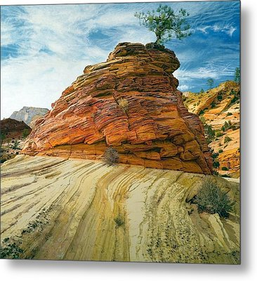 Between A Rock And A Soft Place Metal Print by Robert Keller