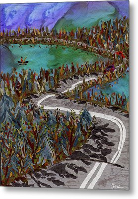 Between Lakes Metal Print by Marina Gershman