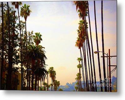 Beverly Hills In La Metal Print by Susanne Van Hulst