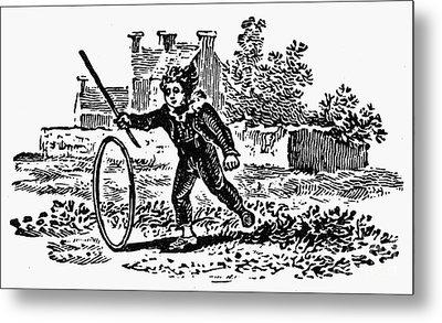 Bewick: Boy With Hoop Metal Print by Granger