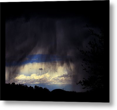 Metal Print featuring the photograph Beyond The Veil by Susanne Still