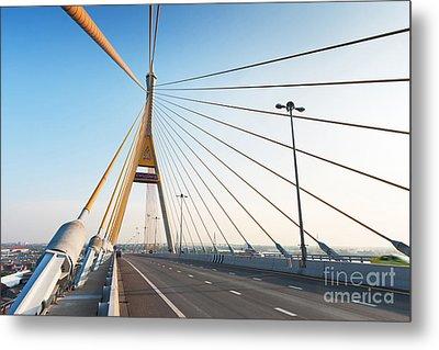 Bhumipol Bridge Metal Print by Atiketta Sangasaeng