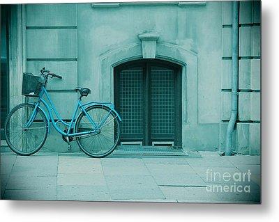 Bicycle Blues Metal Print by Sophie Vigneault