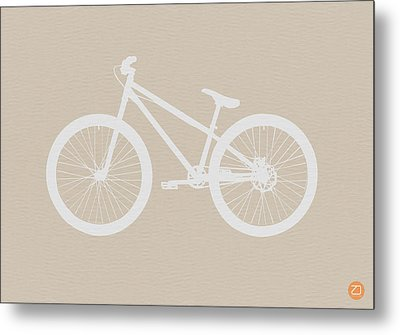 Bicycle Brown Poster Metal Print by Naxart Studio