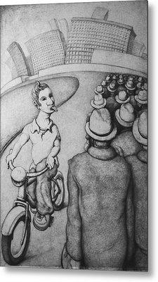 Bicyclist Metal Print by Louis Gleason
