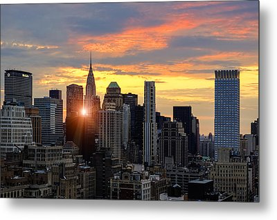 Big Apple Brilliance Metal Print by Janet Fikar