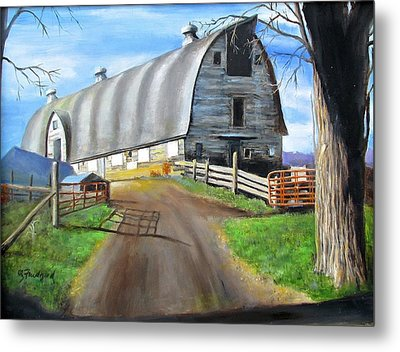 Big Barn At Kripplebush Metal Print