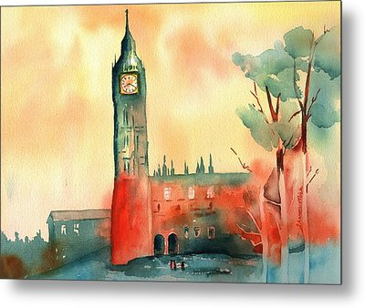 Big Ben    Elizabeth Tower Metal Print by Sharon Mick